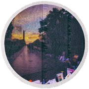 Round Beach Towel featuring the photograph Never Forget by Edward Kreis