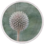 Never Forget Me - Vintage Card Round Beach Towel
