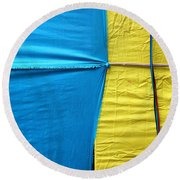 Round Beach Towel featuring the photograph Never Let Go by Prakash Ghai