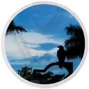 Nevermore In The Tropics Round Beach Towel