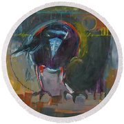 Nevermore Round Beach Towel by Ron Stephens