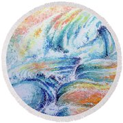 New Born Round Beach Towel