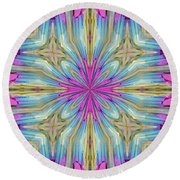 New Box Of Sparklers 1 Round Beach Towel by Lori Kingston
