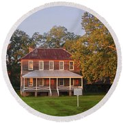 New Dawn On Old House Round Beach Towel