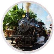 New Hope And Ivyland Railroad  Round Beach Towel