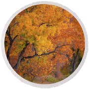 New Mexico Gold Round Beach Towel