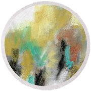 Round Beach Towel featuring the painting New Mexico Horse 4 by Frances Marino