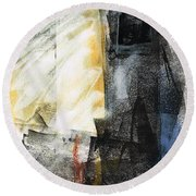 Round Beach Towel featuring the painting New Mexico Horse Art by Frances Marino