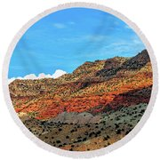 New Mexico Landscape Round Beach Towel by Gina Savage