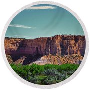 New Mexico Mountains 004 Round Beach Towel
