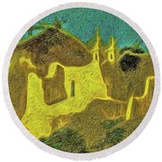 New Mexico Skyline Round Beach Towel