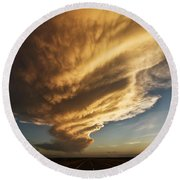 New Mexico Structure Round Beach Towel