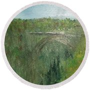 New New River Gorge Painting 1 Round Beach Towel