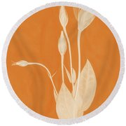 New Openings In Apricot Round Beach Towel