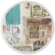 New Orleans Fragments Round Beach Towel