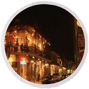 New Orleans Jazz Night Round Beach Towel