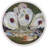 New Orleans Still Life Round Beach Towel