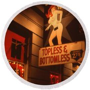New Orleans Topless Bottomless Round Beach Towel by Art America Gallery Peter Potter