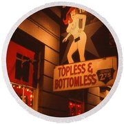 New Orleans Topless Bottomless Sexy Round Beach Towel