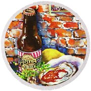 New Orleans Treats Round Beach Towel
