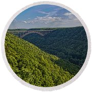New River Panoramic Round Beach Towel