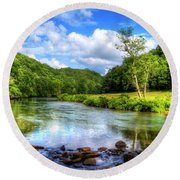 New River Summer Round Beach Towel by Dale R Carlson