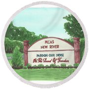 New River Welcome Round Beach Towel