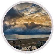 New Sky After The Rain Round Beach Towel