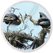 Round Beach Towel featuring the photograph New Twig by Deborah Benoit