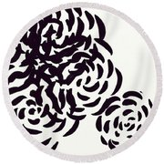 Floral Essence Round Beach Towel by Anita Lewis