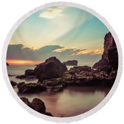 Round Beach Towel featuring the photograph New Vision by Thierry Bouriat