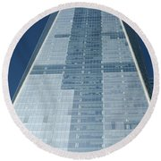 New World Trade Center Round Beach Towel
