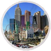New York , New York Round Beach Towel