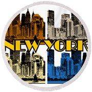 New York 4 Color Round Beach Towel