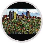 New York Central Park Round Beach Towel by Terry Banderas