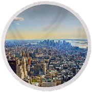 New York City - Manhattan Round Beach Towel