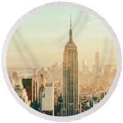 New York City - Skyline Dream Round Beach Towel