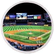 New York City Yankee Stadium Round Beach Towel