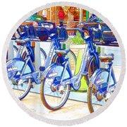 New York Citybike 2 Round Beach Towel