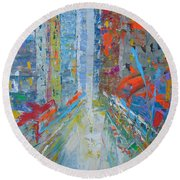 New York Round Beach Towel