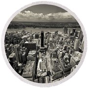 New York Husdon Round Beach Towel