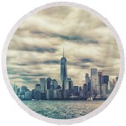 New York Lightleak Round Beach Towel