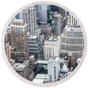 New York Midtown Round Beach Towel