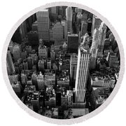 New York, New York 5 Round Beach Towel