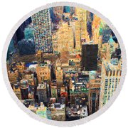 New York, New York Round Beach Towel