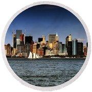 New York New York Round Beach Towel by Tom Prendergast