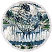 New York World's Fair Round Beach Towel