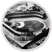 New York: Yankee Stadium Round Beach Towel