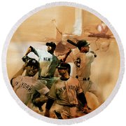 New York Yankees  Round Beach Towel by Gull G