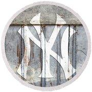 New York Yankees Rustic 2 Round Beach Towel